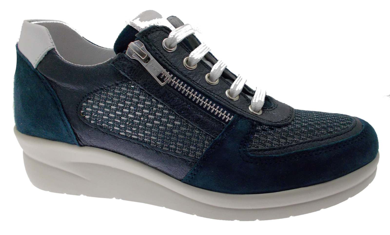 75652 Blau Turnschuhe with arch laces Riposella