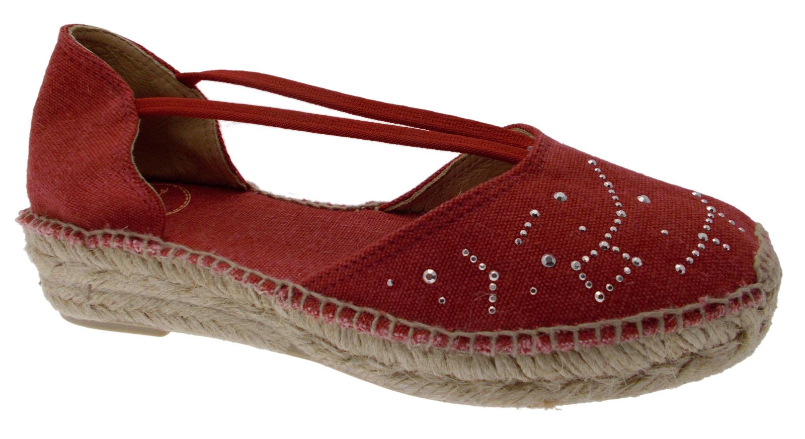 buy online 4e8f0 c3adb ERLA -TR SCARPA sandalo rosso espadrillas Toni Pons