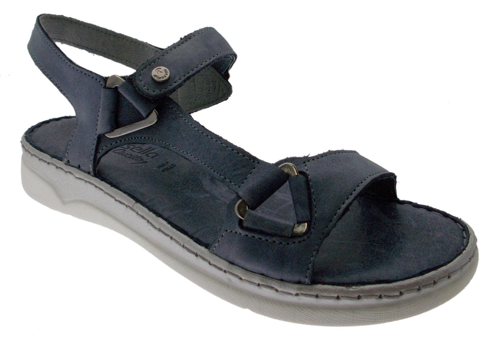40709 open sandal bleu jeans rose plantaire douce mémoire Riposella