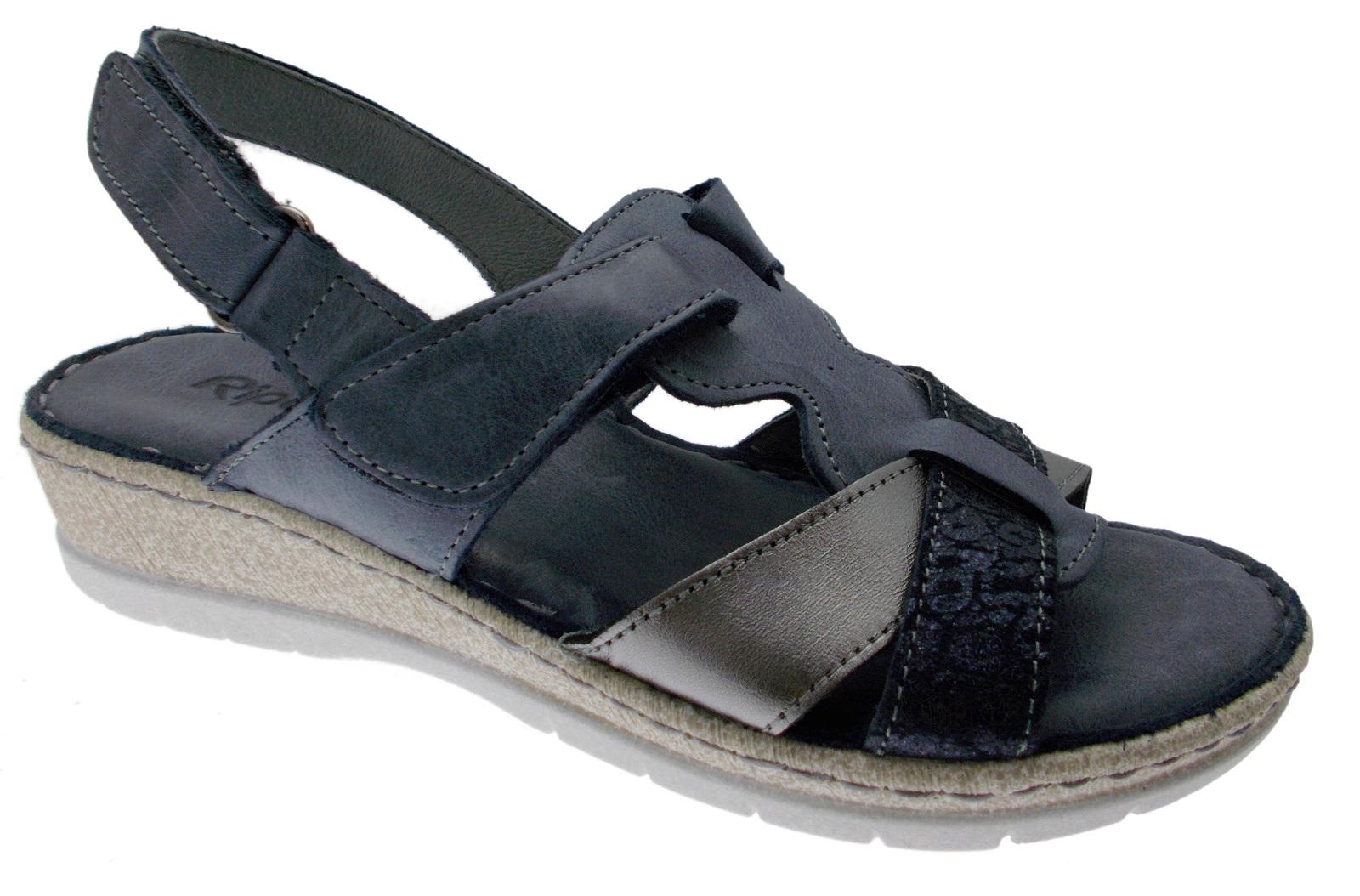 6299 open sandal bluee plantar memory Riposella