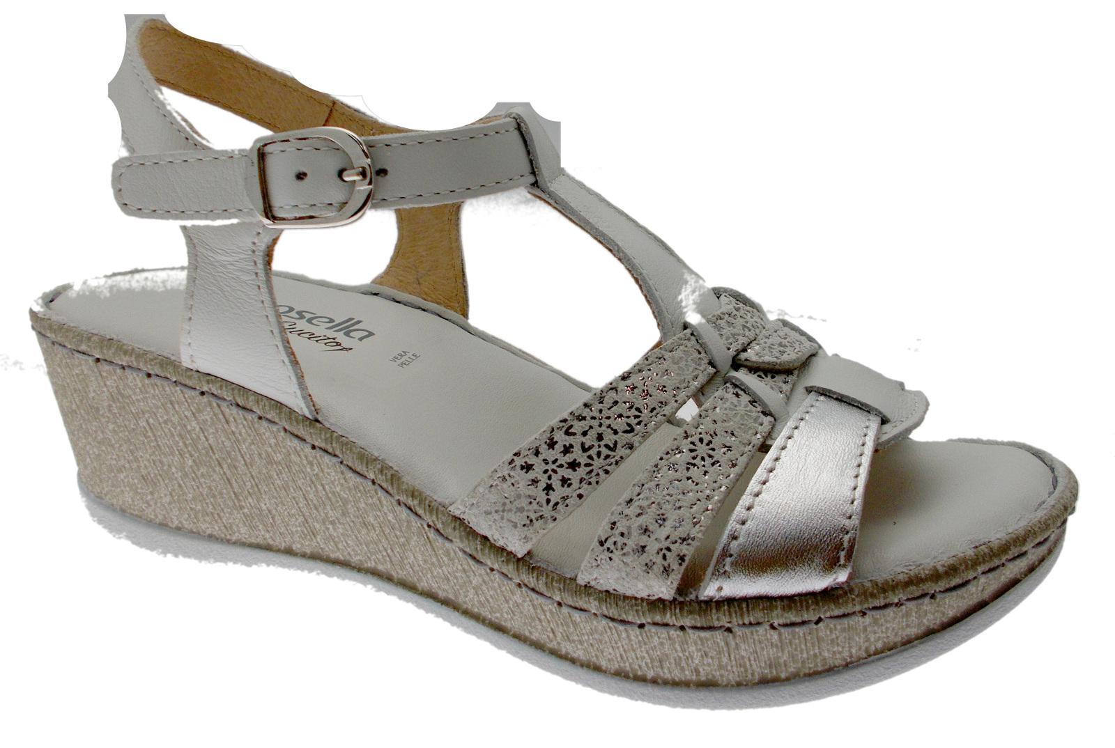6348    sandalo  bianco plantare soft memory Riposella 455278