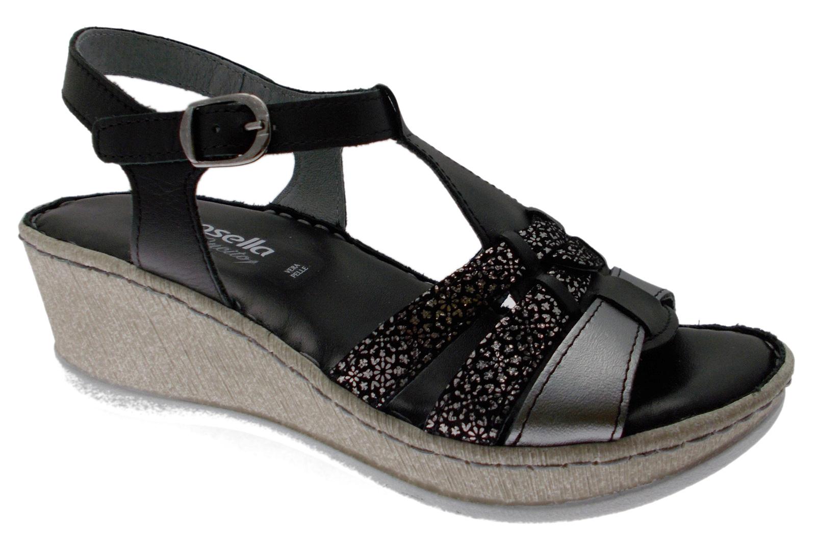 6348 sandalen zwart plantair sandaal Riposella
