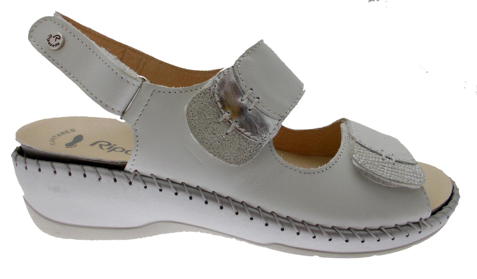 6436  sandalo bianco regolabile sottopiede estraibile ortopedico Riposella Riposella Riposella 43fa3f