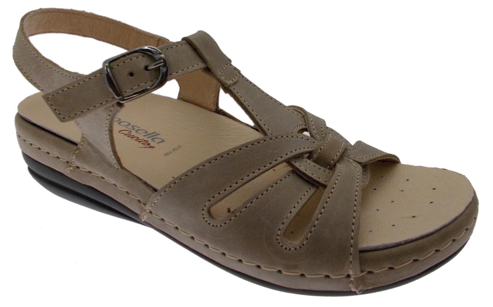 9514 taupe sandalo sandalo sandalo con soletta rimovibile ORTOPEDICO Riposella 6ba38c
