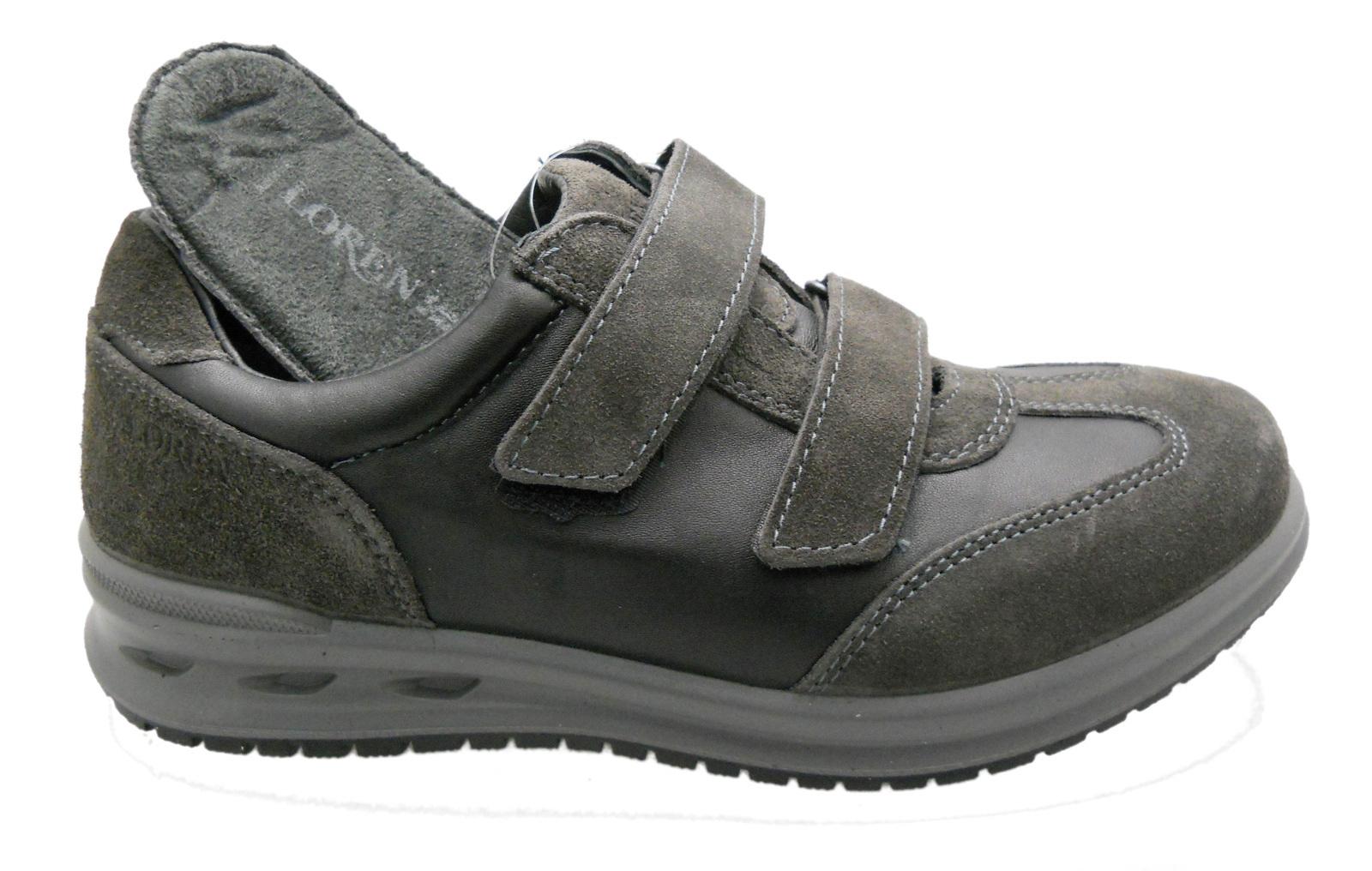 Dettagli su G0319 grigio piombo sneaker scarpa uomo plantare ortopedica Loren