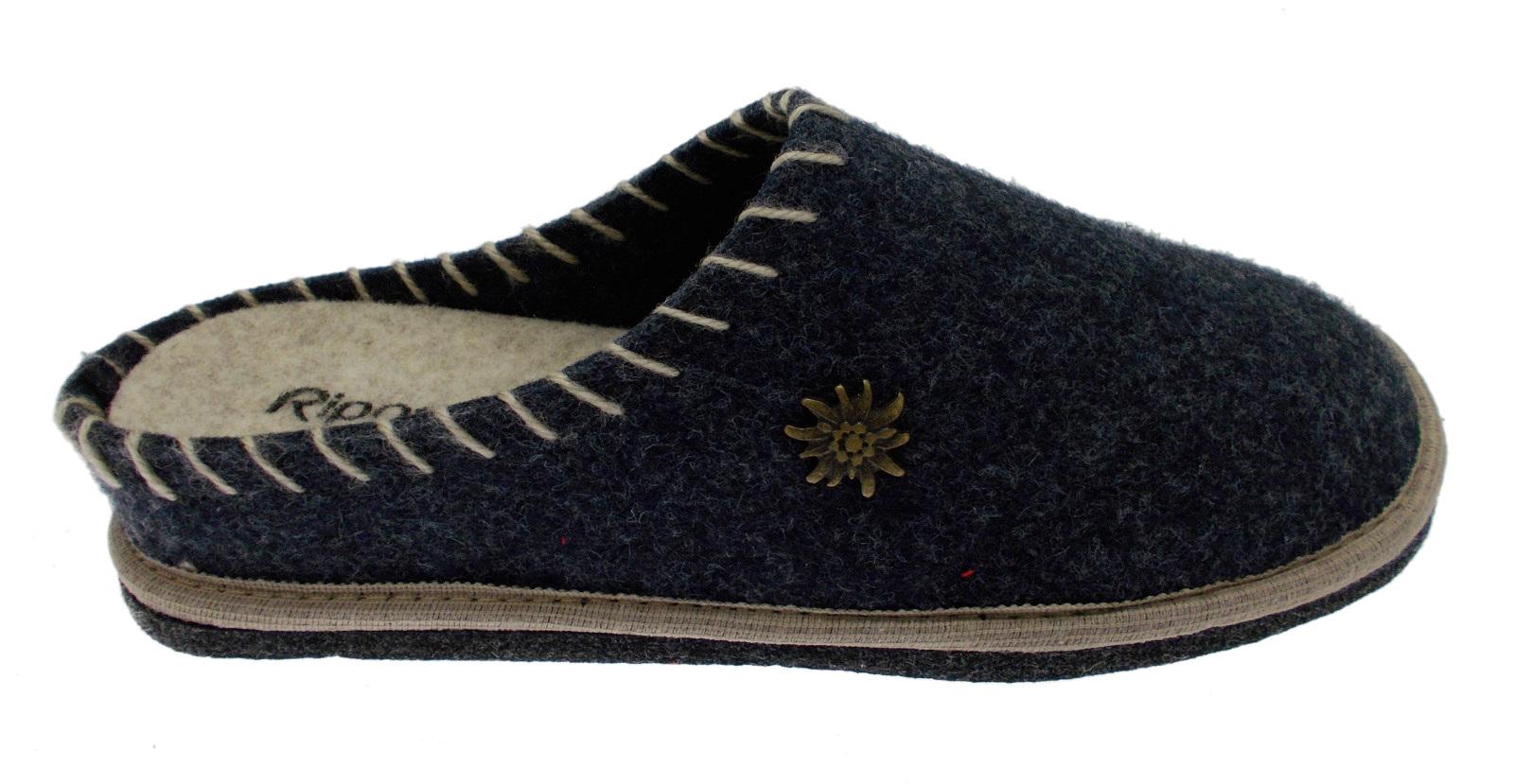 2611 Tyrolean slipper Blau Riposella boiled wool felt Riposella Blau 7085a2