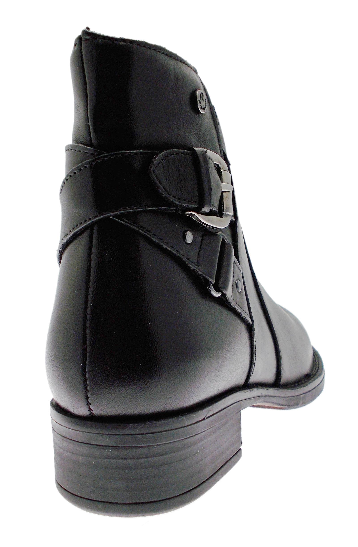 femmes Bottines noir Riposella pour 82839 cuir en qAwgEq6