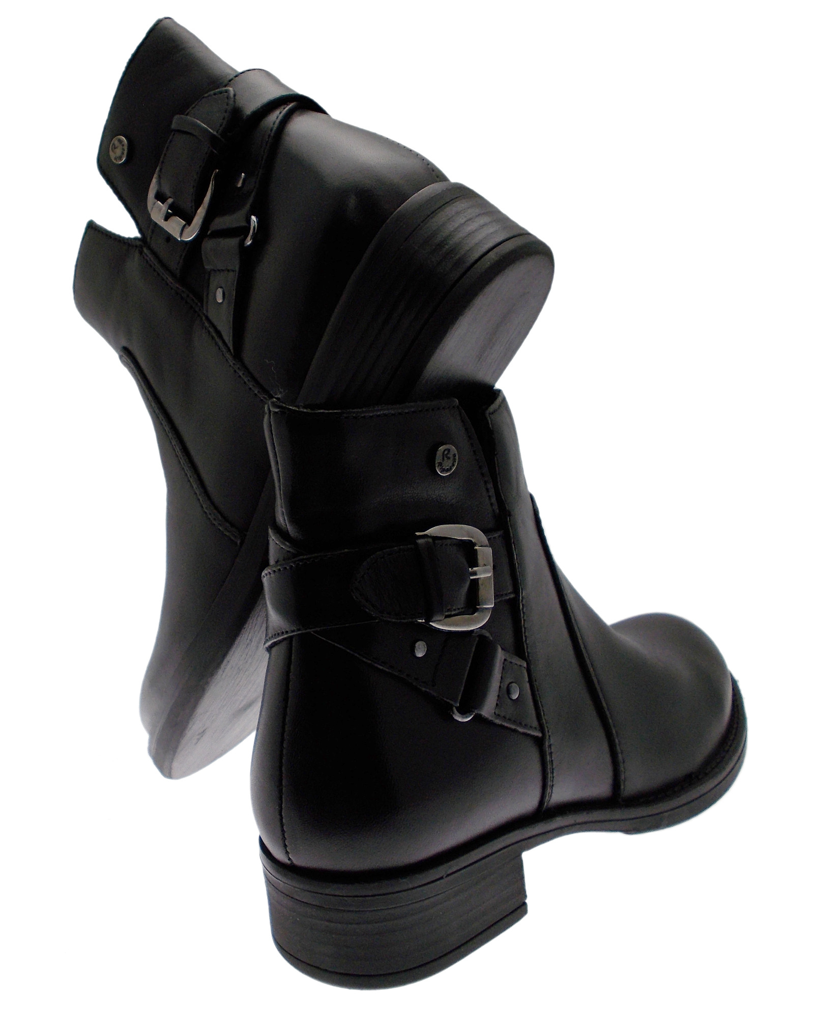 82839 ankle ankle ankle boot woman black leather Riposella 0baa2b