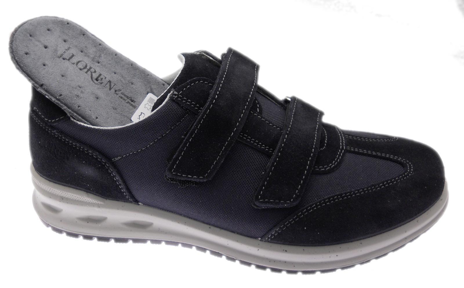 LOREN G0322 zapatilla de deporte ortopedica plantare estraibile azul strappo Loren