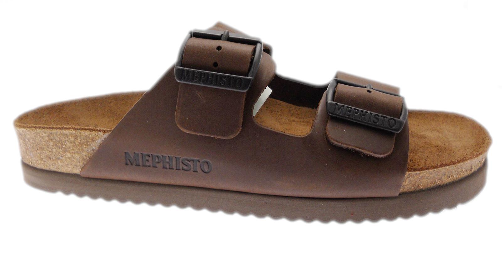 MEPHISTO NERIO ciabatta aperta con fibbie regolabili brown Mephisto