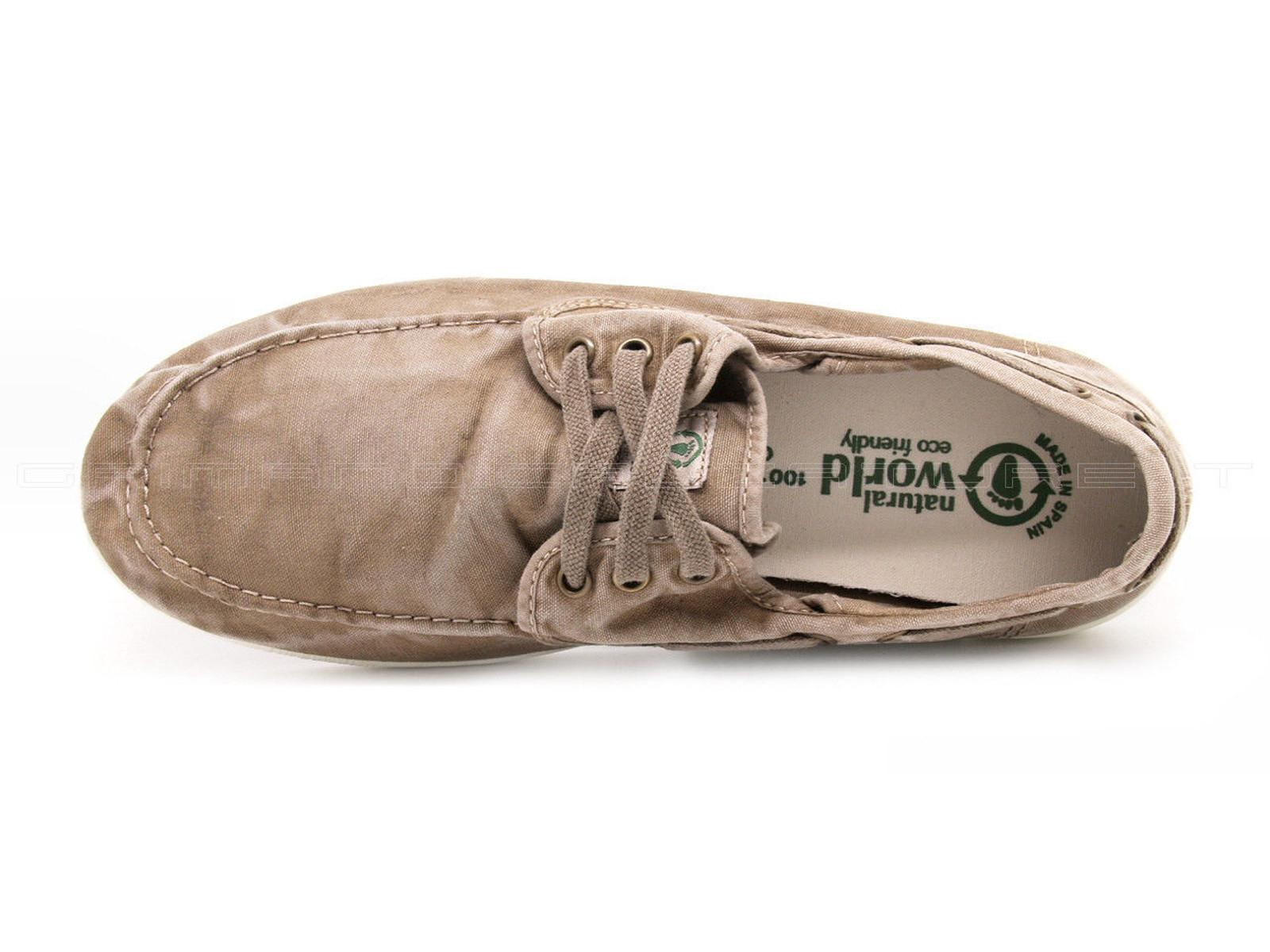 NATURAL WORLD ECO 303E 621 man shoe laces beige cotton enz Natural World